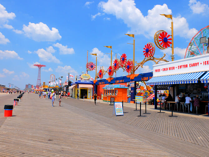 Coney Island in New York - Promenade