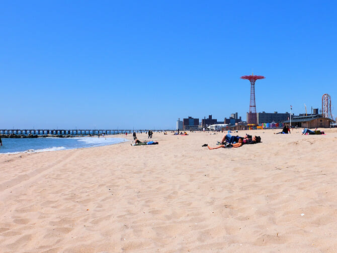 Coney Island in New York - Der Strand