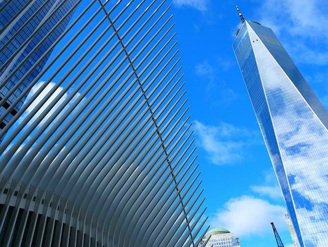 Lower Manhattan in NYC - One World Trade Center