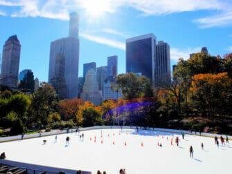 Schlittschulaufen in New York - Central Park