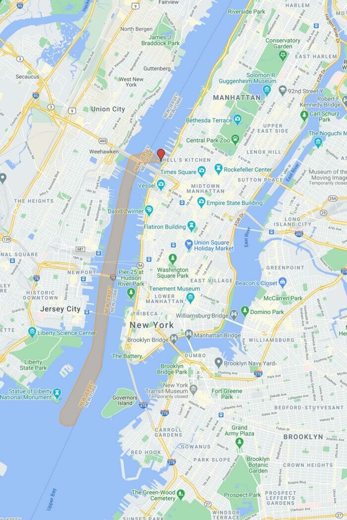 Circle Line: Liberty Bootstour (60 Minuten) - Route