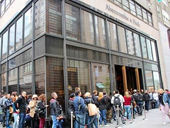 Abercrombie and Fitch in NYC Long Lines