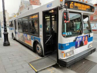 Tipps für Menschen mit Behinderung in New York - Bus