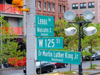 Harlem New York - Straßenschilder