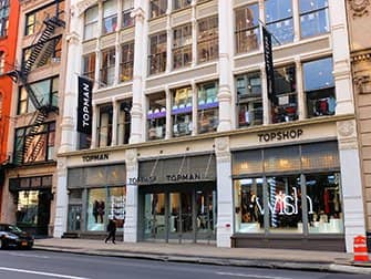 Shopping in SoHo - Topshop