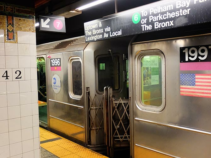 Subway Zug in New York