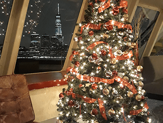 Weihnachtsbootstouren in New York - Christbaum