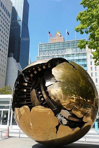 Die Vereinten Nationen in New York - Erdkugel