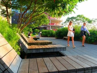 High Line Park in New York - Loungechairs
