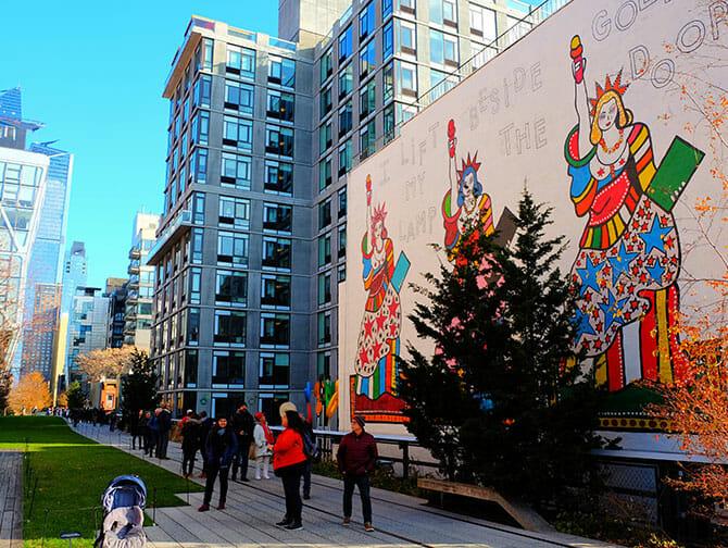 High Line Park in New York - Wandmalerei