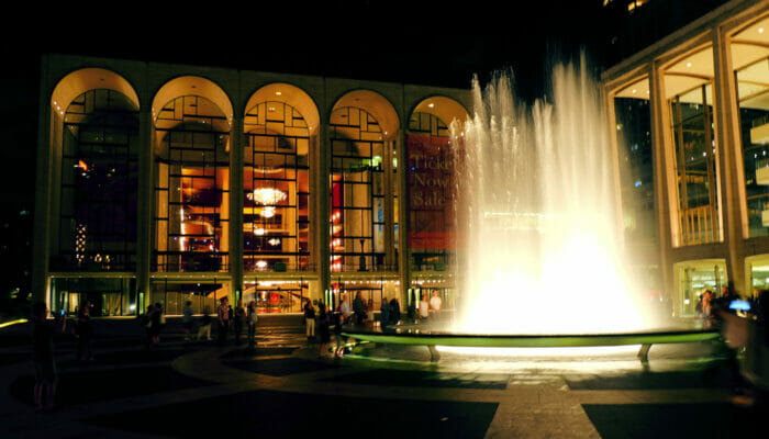 Lincoln Center in New York - Lincoln Center bei Nacht