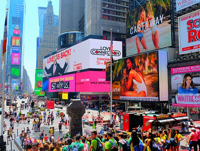 Times Square in New York - Menschenmengen