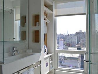 Yotel in New York - Badezimmer