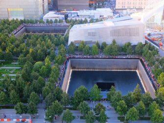 9/11 Memorial am Ground Zero - Von oben
