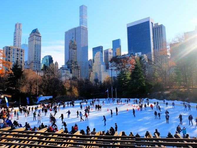 Central Park - Eislaufen am Wollman Rink