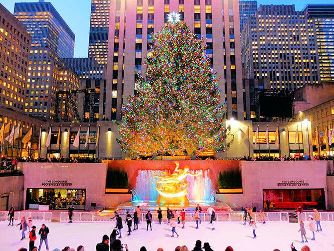 Rockefeller Center in New York - Eislaufbahn