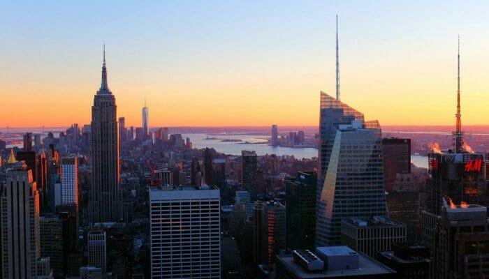 Top of the Rock Tickets - Aussicht bei Sonnenuntergang