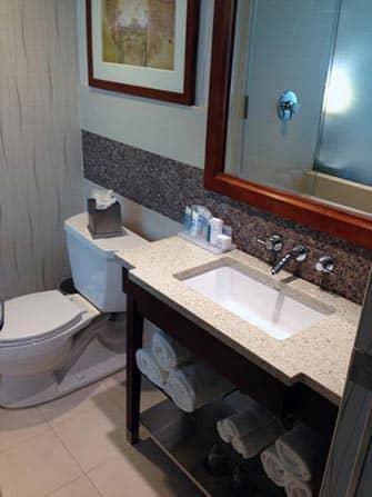 Wyndham Hotel in NYC - Badezimmer