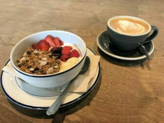 Gesundes Frühstück in New York
