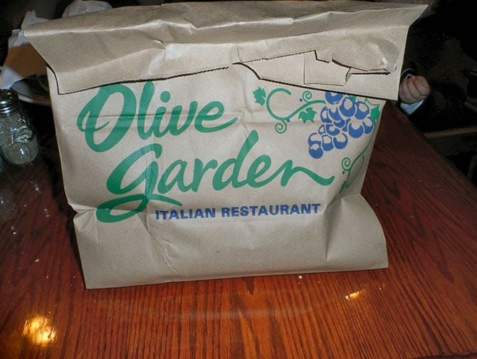 Doggy Bag in New York - Olive Garden