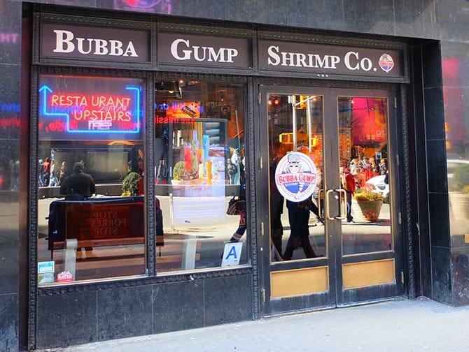 Themen Restaurants in NYC - Bubba Gump