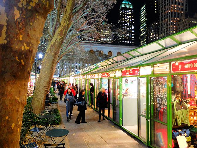 Weihnachtszeit in New York - Bryant Park