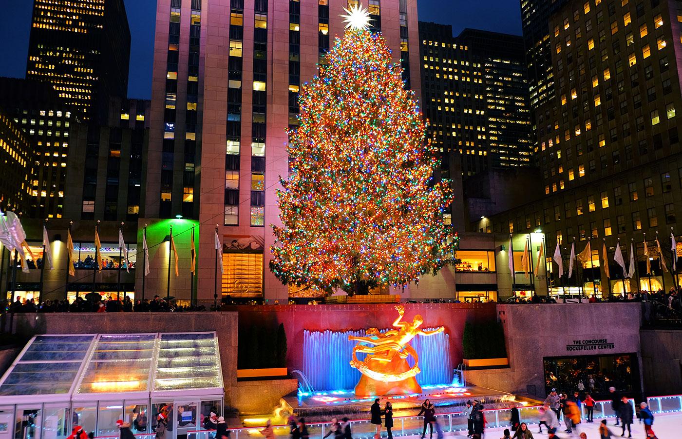 Weihnachtszeit in New York - Weihnachtsbaum am Rockefeller Center