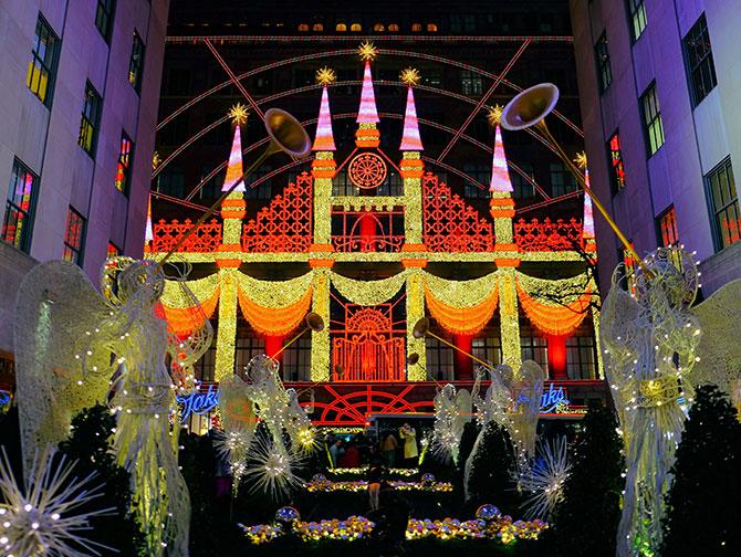 Weihnachtszeit in New York - Saks