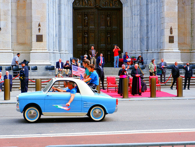 Columbus Day in New York - Studenten aus Italien