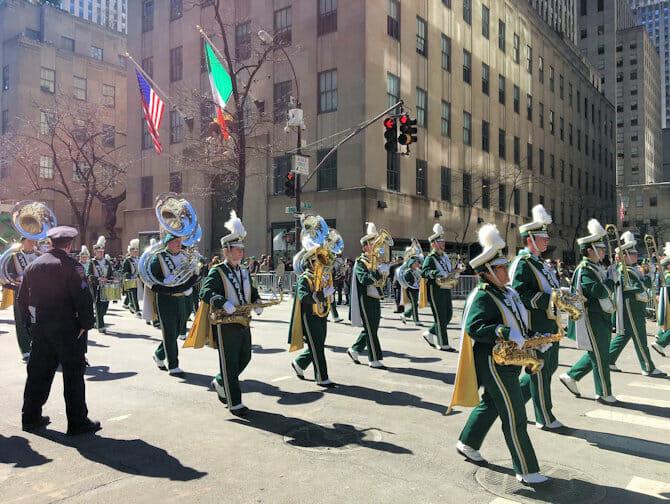 St Patricks Parade in New York