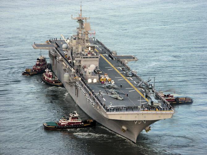 Schiffe für Fleet Week New York