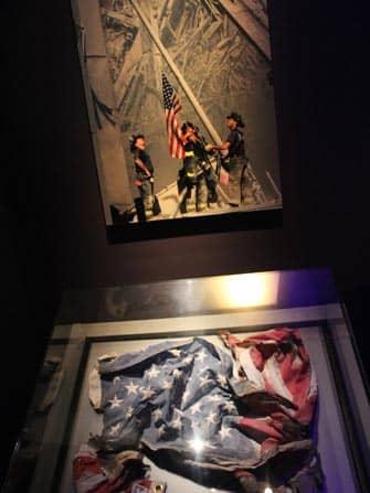 9/11 Museum in New York - Amerikanische Fahne