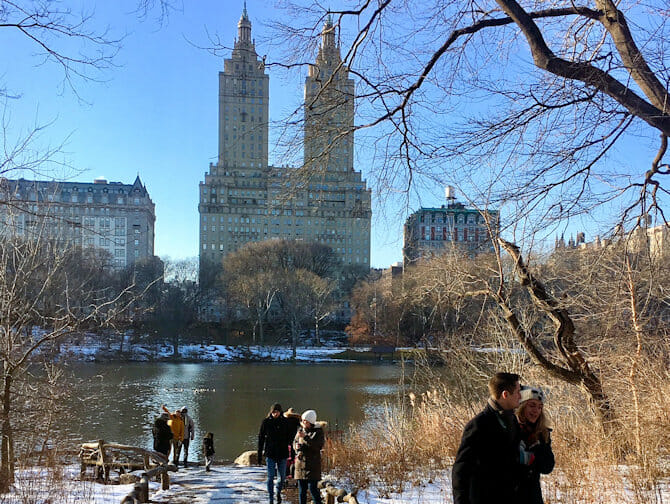 Neujahr in NYC - Eislaufen im Central Park