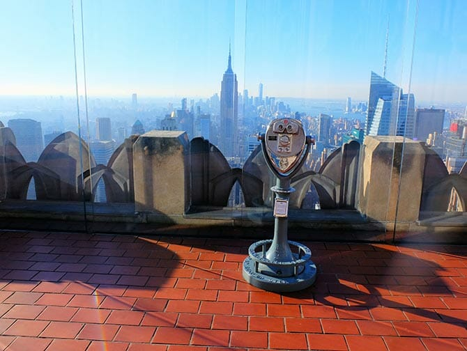 Neujahr in New York - Top of the Rock bei Sonnenuntergang