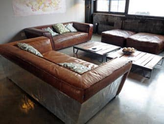 The Paper Factory Hotel lounge in Long Island City