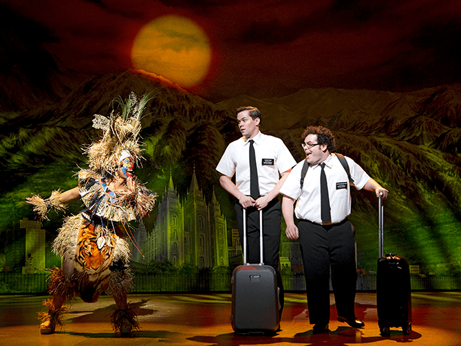 The Book of Mormon am Broadway Tickets - Arnold und Kevin