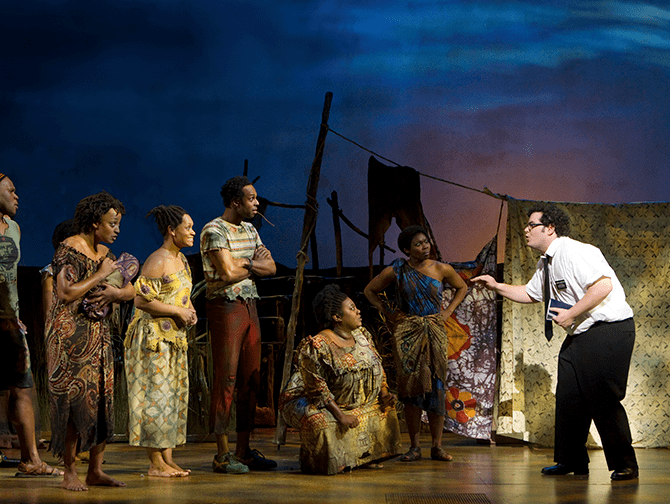 The Book of Mormon am Broadway Tickets - In Uganda
