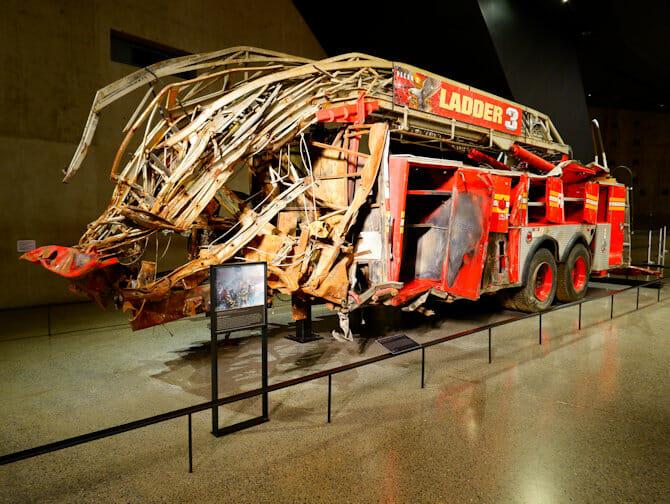9/11 Museum in New York - Feuerwehrauto