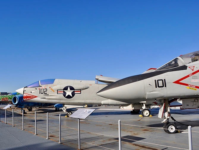 Intrepid Sea, Air und Space Museum in New York - Kampfjets