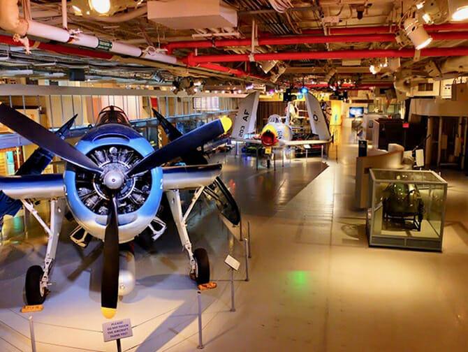 Intrepid Sea, Air und Space Museum in New York - Im Museum