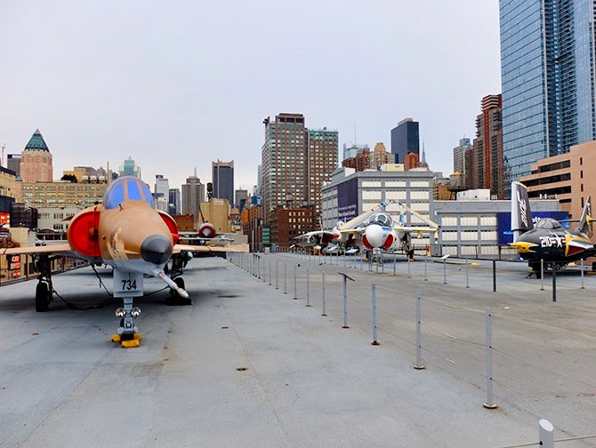 Intrepid Sea, Air und Space Museum in New York - Das Oberdeck