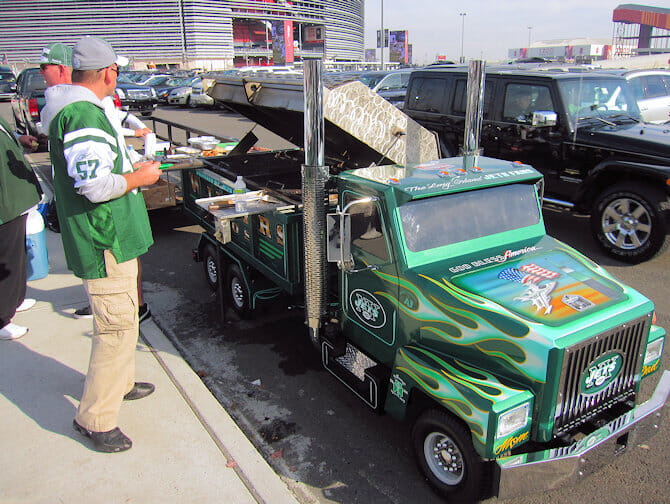 New York Jets - Parkplatz