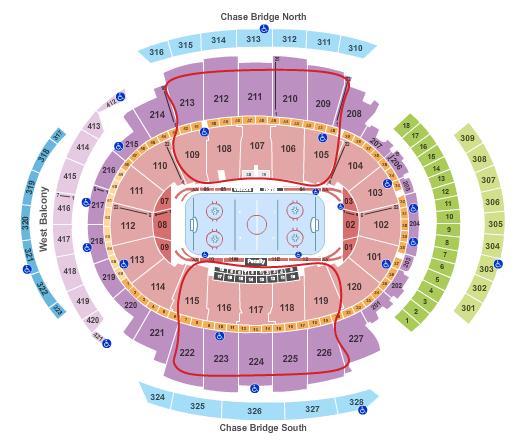 New York Rangers Tickets - Madison Square Garden Sitzplan