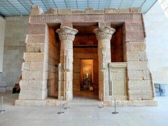 The Metropolitan Museum of Art in New York - Temple von Dendur Frontansicht