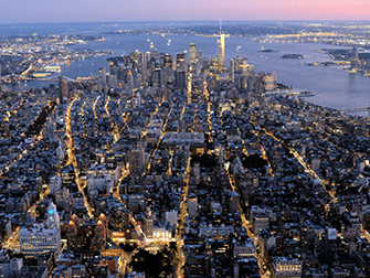 Helikopter- und Bootstour am Abend in New York - Downtown