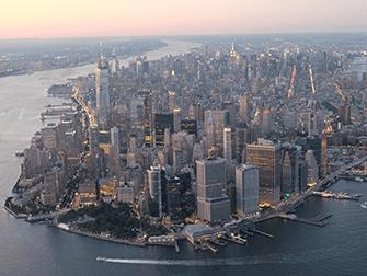 Helikopter- und Bootstour am Abend in New York - Manhattan