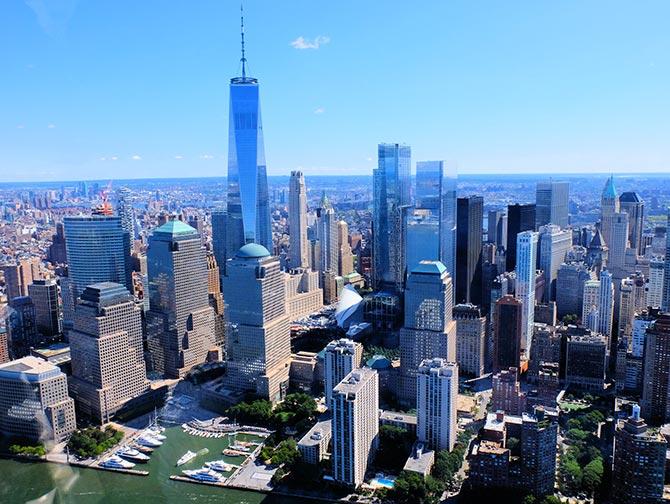 New York Helikopterrouten - Skyline von Manhattan