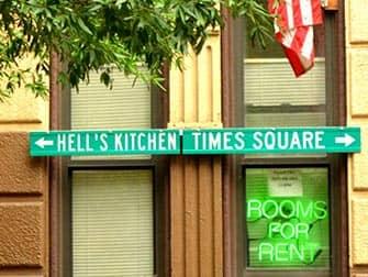 Hells Kitchen in NYC - Wegweiser