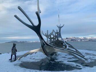 Zwischenstopp auf Island auf dem Weg nach New York - Kunstwerk Sólfar