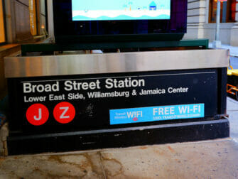 Wi-Fi in New York - Wi-Fi an der 5th Avenue Station